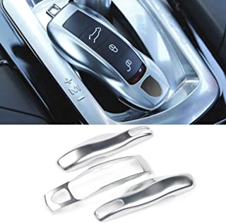 3PCS Remote Key Covers Compatible with Porsche, Jaronx Glossy Silver Key Fob Shell Cover Painted Keyless Entry Skin Protectors (Compatible with:Porsche Boxster Turbo Cayenne Panamera Macan Cayman 911)