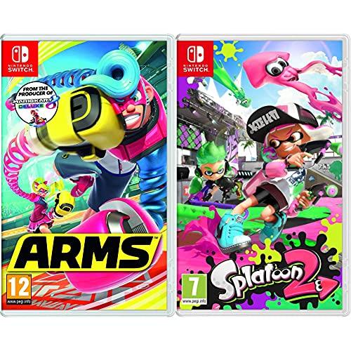 Nintendo Videogioco Arms per Switch [Edizione: Regno Unito] & Videogioco Splatoon 2 per Switch