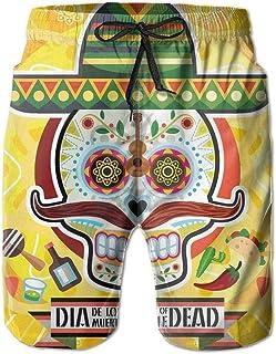 Vegan Dinosaur Mens Summer Casual Beach Shorts Quick Dry Beach Shorts with Pockets