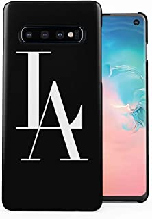 Black L.A. Logo Los Angeles USA City of Angels Cali California Plastic Phone Snap On Back Case Cover Shell Compatible with Samsung Galaxy S10 Plus