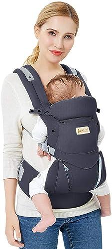 Porte-bébé multifonction réglable , Sac à dos ergonomique pour porte-bébé , Adapté aux nouveau-nés de 0 à 36 mois,Fabric Tissu de confort en coton et polyester,Gift Cadeau idéal,20kg,noir,2