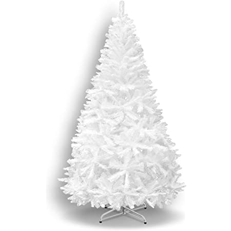 Amazon Com Benefitusa Classic Pine Artificial Christmas Tree With Metal Stand 7 White Home Kitchen