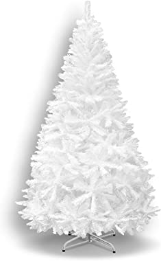 BenefitUSA Classic Pine Artificial Christmas Tree with Metal Stand, 7' White
