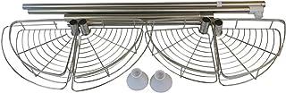N/R コーナーシャワーキャディ 調節可能なシャワーシェルフ 防錆ステンレススチールポール 丈夫で頑丈 アイボリーホワイト