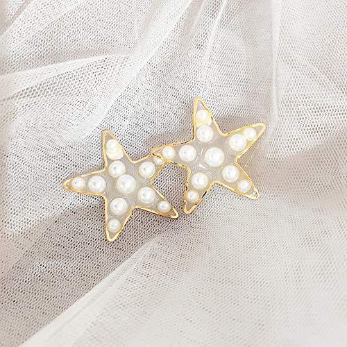 Dcivey Pendientes Pendientes Transparentes De Personalidad De Amor @ C Pendientes De Estrella De Cinco Puntas