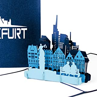 "Pop Up Karte ""Frankfurt am Main - Skyline in 3D"" - Souve"