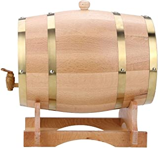 Tonneau de Vin en Bois de Chêne avec Support Tonneau Distributeur à Vin Récipient pour Vin Fût à Vin Tonneau pour Stockage...