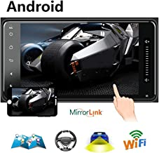Hikity Double Din Android Car Stereo with GPS for Toyota Corolla 7
