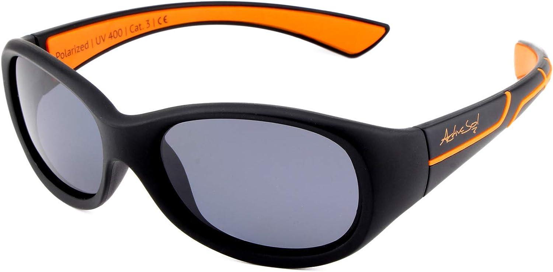 ActiveSol Kids @School Gafas solares deportivas para niños   Niñas y niños   100% protección UV 400   polarizadas   de goma flexible irrompible   5-10 años   solo 22 gramos