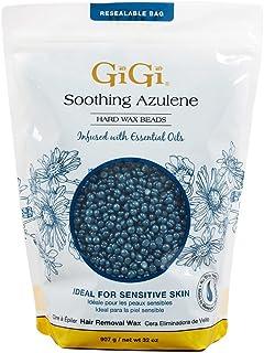GiGi Hard Wax Beads, Soothing Azulene Hair Removal Wax for Sensitive Skin, 32 oz