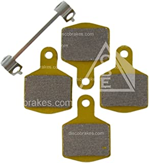 1 Pair F1 Hope M4 Sintered Disc Brake Pads (4 Pads +Sp) DH 4-Pot Enduro E4 XC
