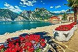 Rompecabezas para Niños Y Adultos 300 Piezas, Lago De Garda, Italia, Altas Montañas Puzzle para Niños 38X26Cm