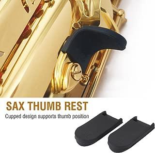 Saxophone Thumb Rest 2Pcs Rubber Sax Gel Cushion Pad Instruments Accessories