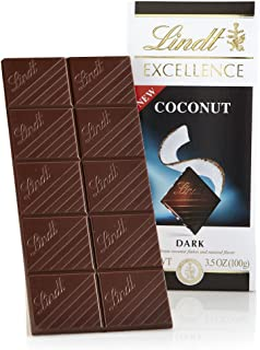 Lindt Excellence Bar, Dark Coconut, 3.5 Ounce (Pack of 12)