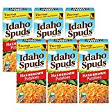 Contains 6 - 42oz boxes of Idaho Spuds premium hashbrown potatoes - makes 42 servings Made with 100% real Idaho Potatoes No artificial colors or flavors; Non-GMO certified, Gluten Free & Kosher Crispy diner-style hashbrowns that are ready in minutes ...