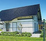 Koll Living 10 m Einstabmattenzaun, Höhe 75 cm, RAL 6005, komplett mit Pfosten - Gartenzaun Metallzaun Zaun Zaunanlage