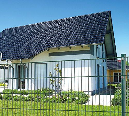 Eider Einstabmatten, H 80 cm, grün (RAL6005), L 10-50m - Drahtstärke 8/6/4mm - sichere Einzäunung Ihres Privatgrundstückes oder gewerblichen Fläche (Einstabmatten, 80 cm, grün, 30 m)