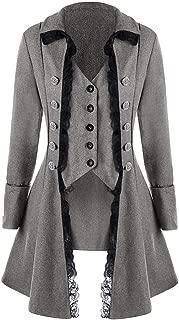 Mens Gothic Tailcoat Jacket Black Steampunk Victorian Coat Uniform
