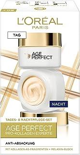 L'Oréal Paris Straffendes Gesichtspflegeset für reife Haut mit Anti-Aging Tagespflege und Nachtpflege gegen Altersflecken,...