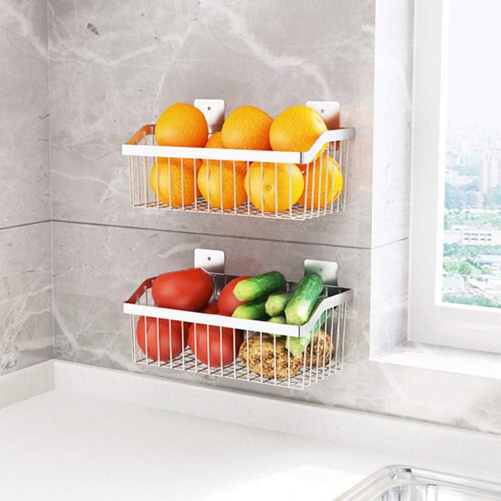 2PCS Kitchen Storage Metal 2021 model Wire Stainless SUS304 Fruit - Basket Superior