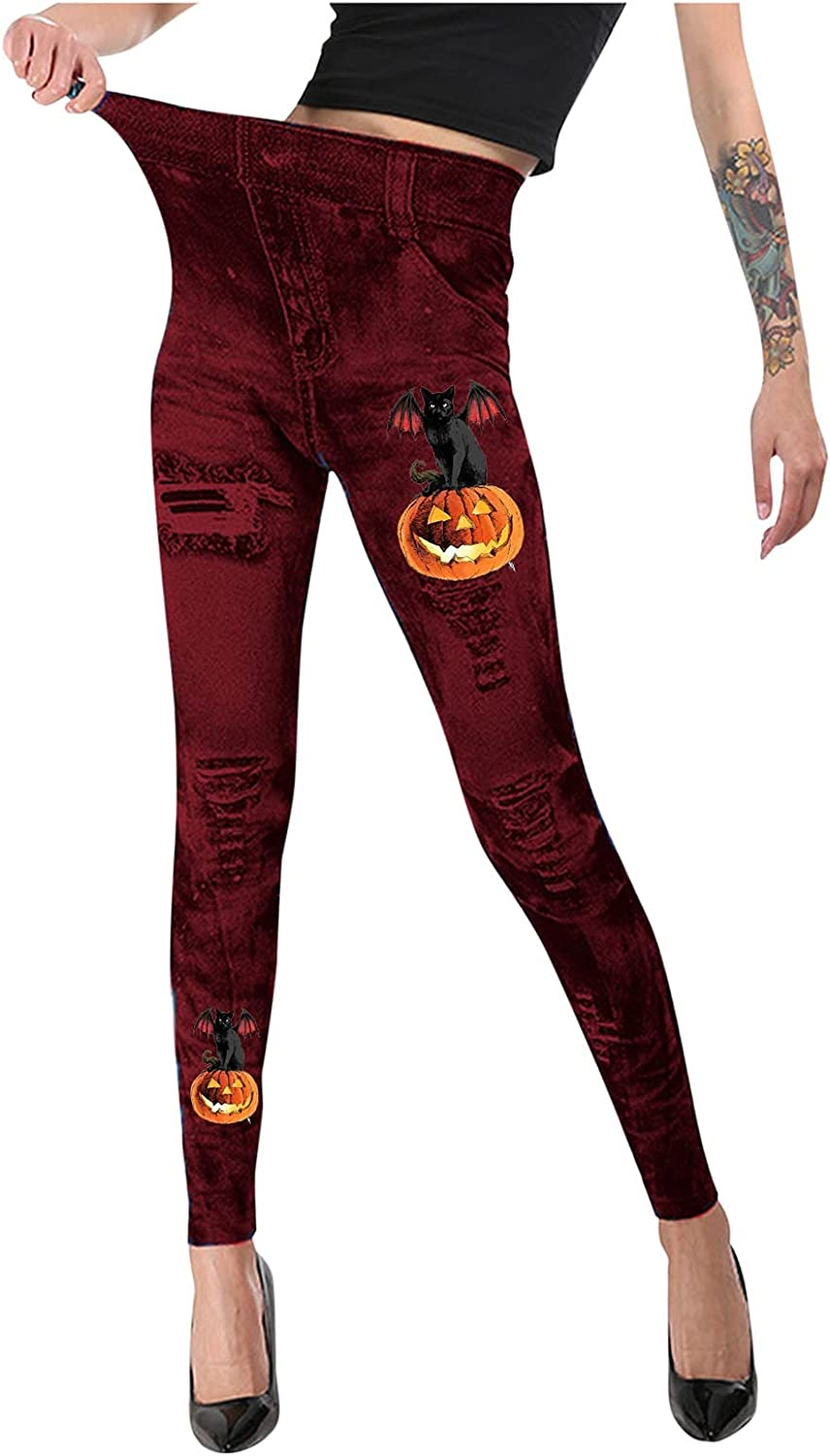 uikmnh Tummy Control Workout Hallween with Mail order Pockets Leggings Max 54% OFF High