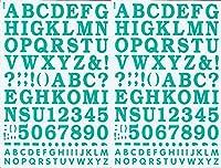 (シャシャン)XIAXIN 防水 PVC製 アルファベット ナンバー ステッカー セット 耐候 耐水 ローマ字 数字 キャラクター 表札 スーツケース ネームプレート ロッカー 屋内外 兼用 TS-533 (2点, グリーン)