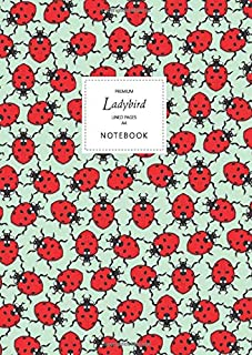 Ladybird Notebook - Lined Pages - A4 - Premium: (Spring Green Edition) Fun notebook 192 lined pages (A4 / 8.27x11.69 inche...
