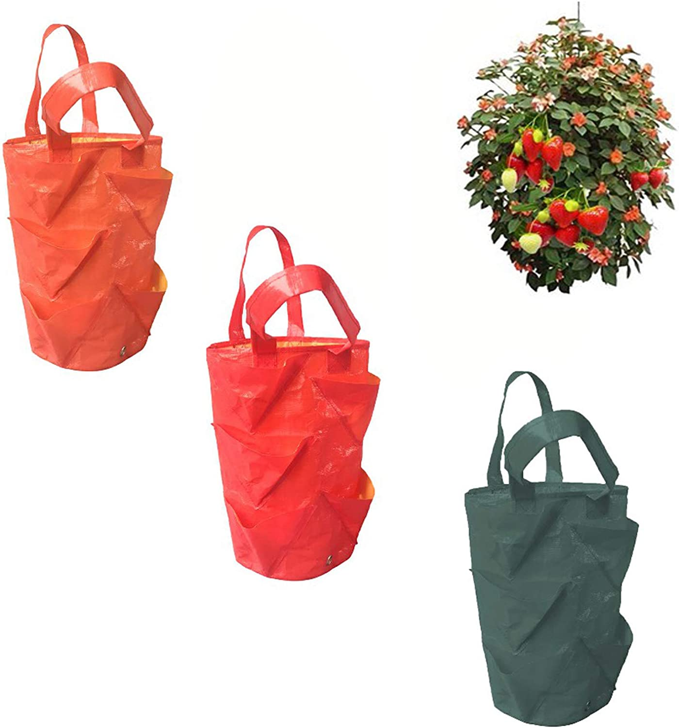 Hofumix Grow Bags Hanging Strawberry Planting Max 71% OFF Ranking TOP17 Pots Planters with