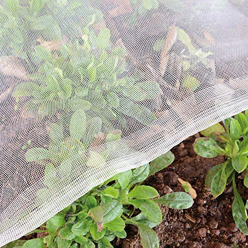 Garden Tailor 4'x10' Mosquito Insect Bug Screen Netting, Garden Netting Barrier Protect Vegetables Flowers Fruits Plants (Silver).