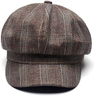 uniunitwo Spring Cotton Beret Women's Cap Fashion Classic England Style Vintage Artist Hat (Khaki)