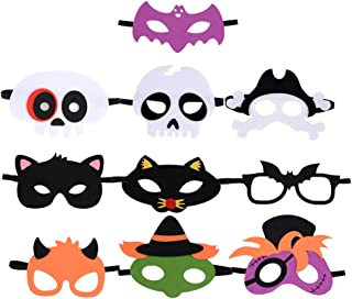 B bangcool Kids Halloween Masks Party Face Eyes Mask Party Costume Supplies Devil Pirate Scary Eye Mask for Boys & Girls(10PCS)