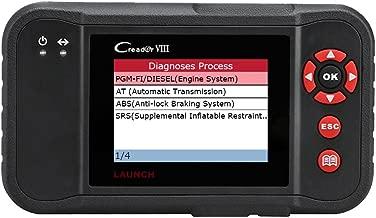 Launch X431 Creader Viii OBD2 Escáner Lector de código del vehículo Herramienta de exploración automática para ENG / AT / ABS / SRS / EPB / SAS / Servicio de aceite Restablecimiento de luz