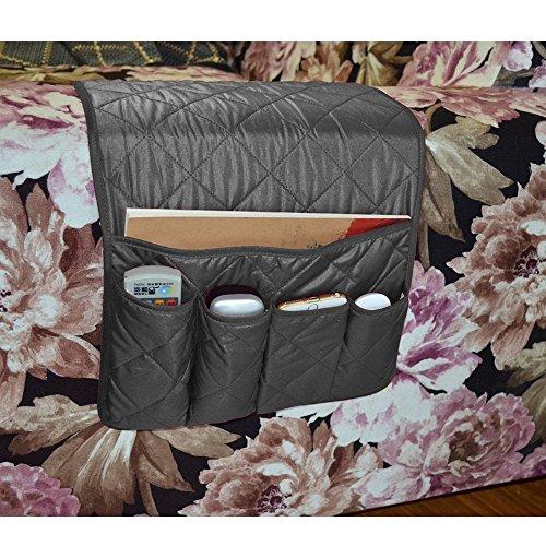 ViLand bank stoel armleuning opslag organisator, ruimte opslaan gereedschap houder organisator met 5 zakken, past voor telefoon, iPad, boek, tijdschriften, TV afstandsbediening