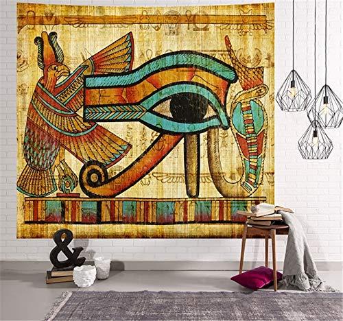 KHKJ Tapiz Egipcio Antiguo para Colgar en la Pared, decoración para Dormitorio, Colcha, Arte, decoración del hogar, A2 200x150cm