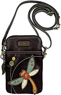 Crossbody Cell Phone Purse - Women PU Leather Multicolor Handbag with Adjustable Strap