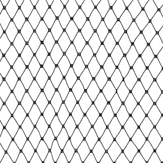 Jason's 18in Russian Netting Black Fabric By The Yard