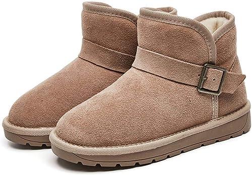 DANDANJIE Stiefel de Nieve de Las damenes de Invierno Stiefel de tacón Plano sin deslizarse Stiefel de Tobillo schuhe (4 Farbees)
