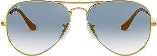 Ray-Ban AVIATOR LARGE METAL - GOLD Frame CRYSTAL GRADIENT LIGHT BLUE Lenses 58mm Non-Polarized