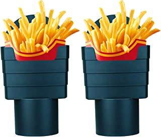 French Fry Holder Multi - Purpose Universal Black Drink Beverage French Fry Holders, Plastic Phone Mount for Cup Holder Ma...