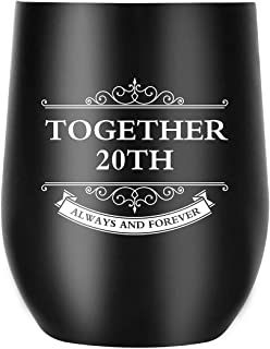20th Anniversary Gifts for Men Women Wife Husband, Together Always and Forever, Personalized Gifts for Couple Parents (20th Anniversary)