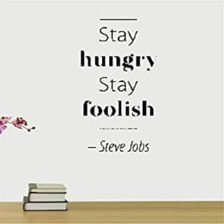 A Design World Wall Stickers Decal Removable Stay Hungry Stay Foolish Steve Jobs