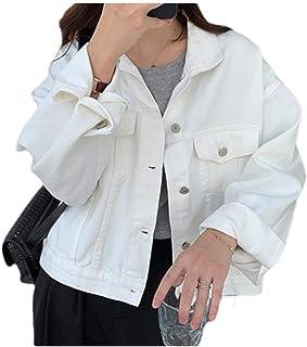 neveraway Womens Weekend Chest Pockets Button Denim Jean Jacket Coats Outerwear