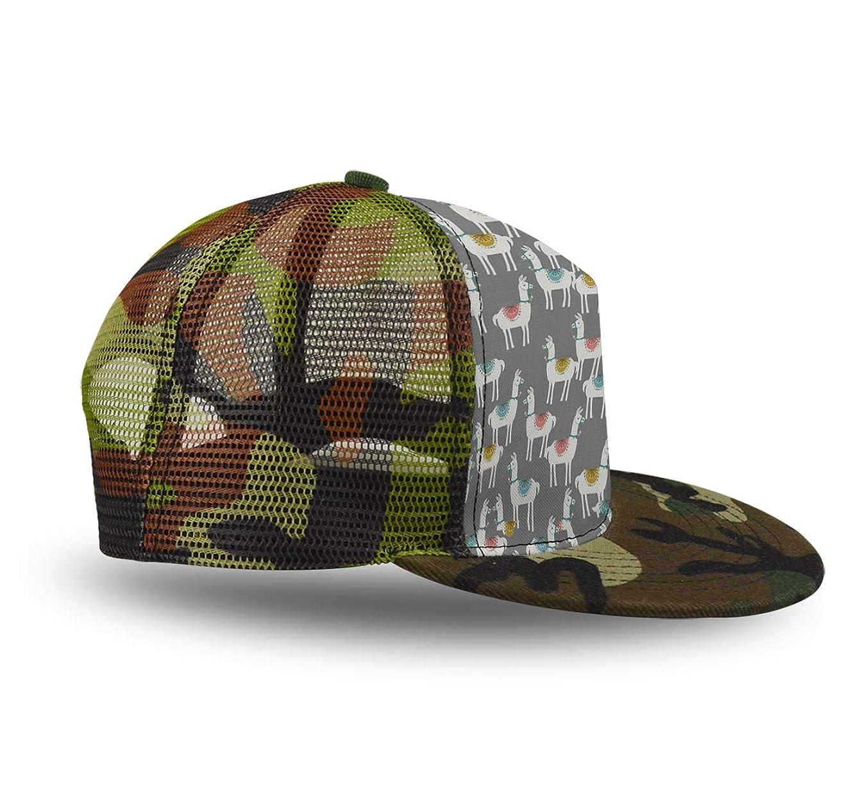 Outdoor Cap Camo Hunting Basics Hat Mesh Hat, Llama Alpaca