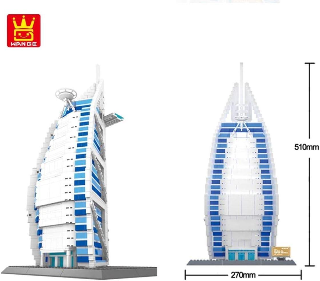 Kathedrale Notre Dame. Architektur Modell zum Bauen mit Bausteinen. Burj Al Arab