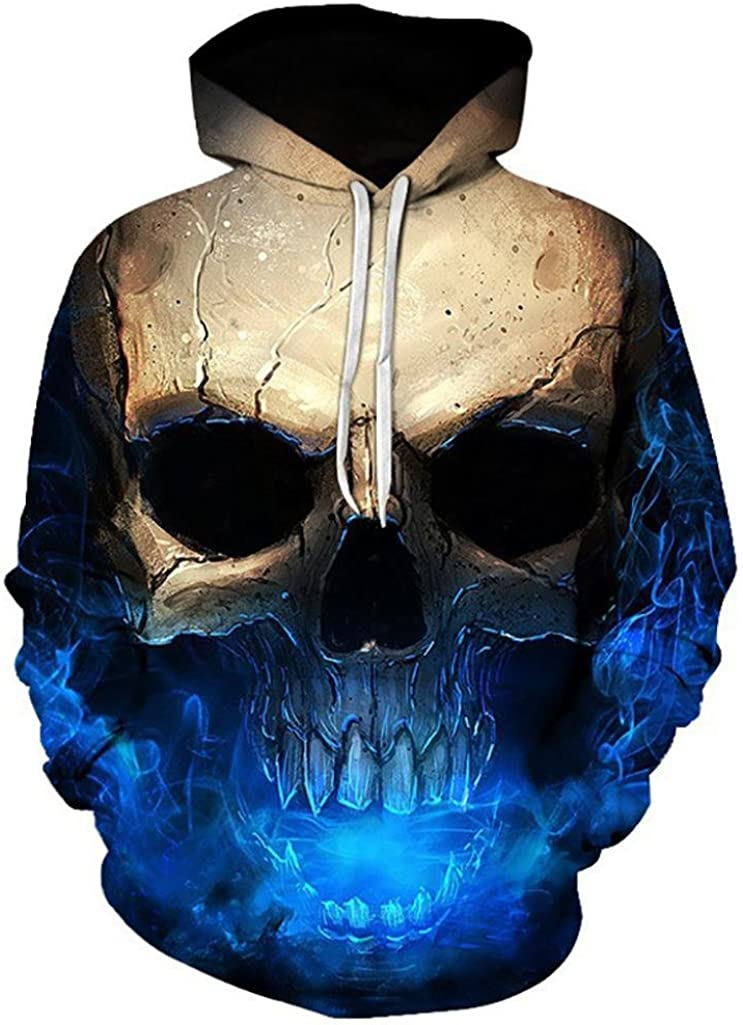 Clearance Hooded Sweatshirt NEW before selling Men and Women 3 Hoodie Cheap super special price Unisex Skull