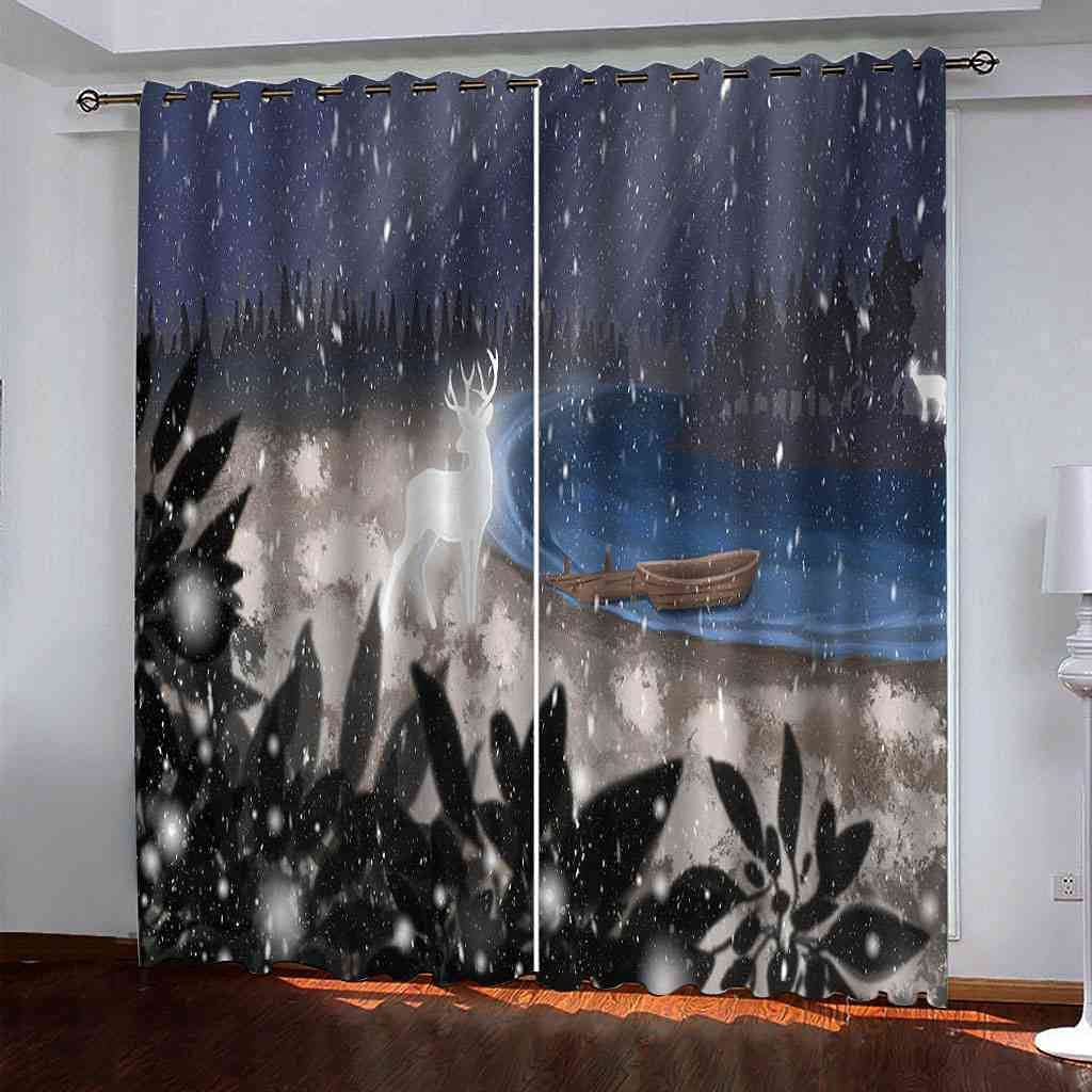 Albuquerque Mall RIFTWP Window Drapes for Bedroom Blackout Room Max 67% OFF 3D Living Printed
