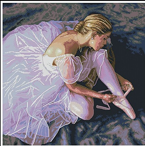 go for a ballet Counted Cross Stitch Kit,14ct,252 * 252stitch 56 * 56cm Count Cross Stitches
