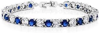 Gem Stone King Sparkling Multi-Color Round Cubic Zirconia CZ Women's Tennis Bracelet (7.50 cttw, 7 Inch)