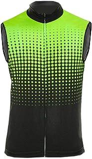 Uglyfrog Funktions Winter Fleece Wear Fahrradweste - Laufweste - Leichte Wind Weste – Radweste – Windabweisend - Reflektierend Cycling Vest