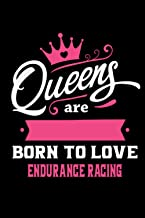 Queens Are Born To Love Endurance racing: Notebook Lined Pages, 6.9 inches,120 Pages, White Paper Journal, notepad Gift